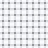 编织无缝的样式的白色 免版税库存照片