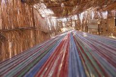编织是阿拉伯流浪者在埃及 免版税库存照片
