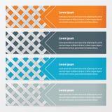 编织橙色的横幅,蓝色,灰色颜色 向量例证