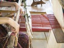 编织的丝绸 库存图片