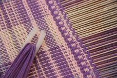 编织的实践成套工具 库存照片