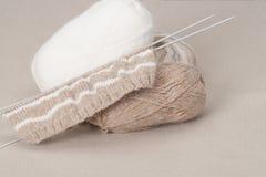 编织的工艺成套工具 爱好辅助部件 免版税库存图片