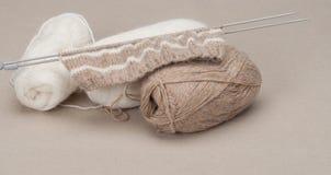 编织的工艺成套工具 爱好辅助部件 库存照片