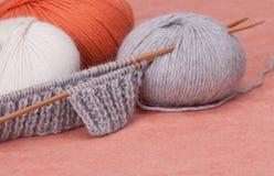 编织的工艺成套工具 爱好辅助部件 免版税库存照片