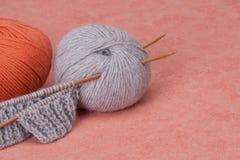 编织的工艺成套工具 爱好辅助部件 图库摄影