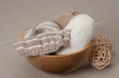 编织的工艺成套工具 爱好辅助部件 免版税图库摄影