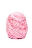 编织的桃红色毛线羊毛 免版税图库摄影
