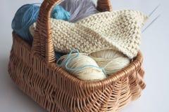 编织的篮子 库存图片