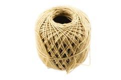 编织的米黄毛线 免版税库存图片