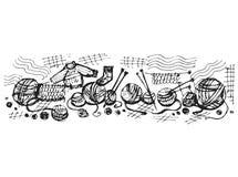 编织的羊毛螺纹 图库摄影