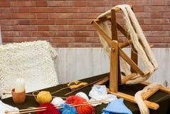 编织的羊毛 免版税图库摄影