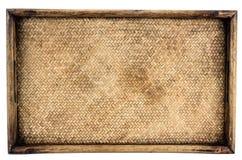 编织的藤条篮子盘子 图库摄影