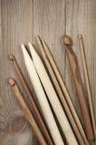 编织针和钩针编织 库存照片