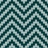 编织锯齿形地在无言颜色的无缝的样式 库存图片