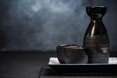 缘故传统陶瓷饮用的集合 库存照片