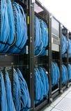 缚住的datacenter现代网络连接 免版税库存图片