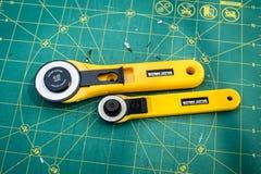 缝制的切口辅助部件 库存照片