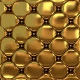 缝制的皮肤的金皮革纹理 库存照片