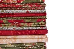 缝制的织品用不同的颜色 免版税库存图片