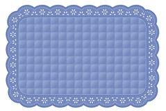 缝制的蓝色小孔鞋带席子安排 皇族释放例证