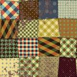缝制的设计的模仿在难看的东西样式的 库存照片