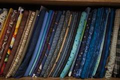 缝制的织品 免版税库存照片