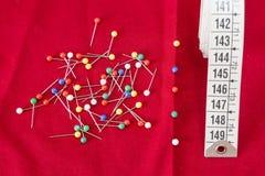 缝合的工具和针线包 库存图片