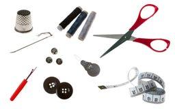 缝合的工具 免版税库存图片