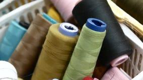 缝合的工厂 一束色的螺纹 股票录像