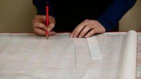 缝合的工厂 大师做衣裳的样式 手工生产 影视素材