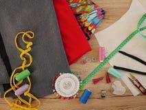 缝合的织品 图库摄影
