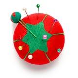 缝合Pin坐垫的蕃茄 免版税库存照片