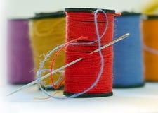 缝纫针 免版税库存图片