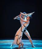缠结差事到迷宫现代舞蹈舞蹈动作设计者玛莎・葛兰姆里 免版税库存照片