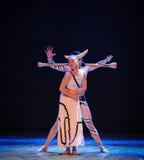 缠结差事欲望到迷宫现代舞蹈舞蹈动作设计者玛莎・葛兰姆里 免版税库存照片