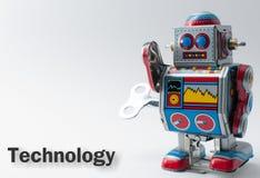 缠绕玩具机器人 免版税库存照片