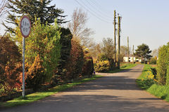 缩小的农村运输路线,英国 免版税库存图片