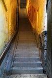 缩小的楼梯斯德哥尔摩 免版税库存图片