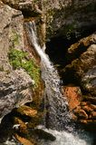 缩小的瀑布 库存图片