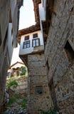 缩小的街道在Melnik城镇 库存图片