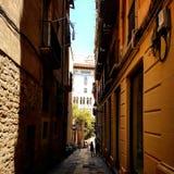 缩小的西班牙街道 库存图片