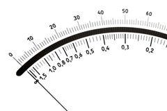 缩放比例测量设备的照片 免版税库存图片