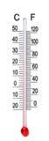缩放比例温度计 免版税库存照片