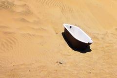 浴缸在Kolmanskop,纳米比亚 免版税图库摄影