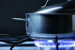 缸煤气炉 免版税库存照片