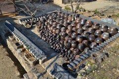 缸的韩国传统平台 库存照片