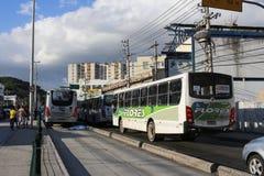 缺乏在交通,在巴西交通的原因死亡的教育 免版税库存照片