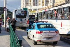 缺乏在交通,在巴西交通的原因死亡的教育 库存图片