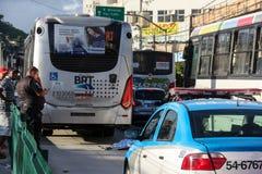 缺乏在交通,在巴西交通的原因死亡的教育 免版税图库摄影