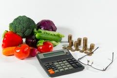 缺乏在健康食品的退休金,贫穷概念 图库摄影